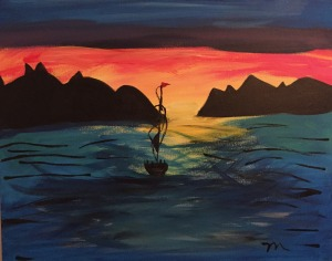The Boat - Result of a paint night with friends for my birthday – an original piece of art!